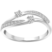 2 In Love 14K White Gold 1/6 CTW Diamond Fashion Ring, Size 7