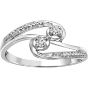 2 In Love 14K White Gold Diamond Accent Ring, Size 7
