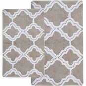 Chesapeake Merchandising Double Quatrefoil 2 Pc. Bath Rug Set