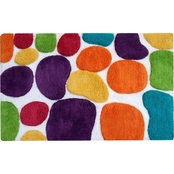 Chesapeake Pebbles Brights Multi Coloured Bath Runner 24 in. x 36 in.