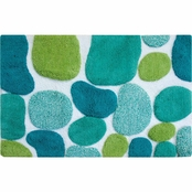 Chesapeake Pebbles Brights Pool Blue Bath Runner 24 in. x 36 in.