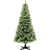 Puleo 7.5 Ft. Pre-Lit Cashmere Artificial Tree with Rotating Tree Stand