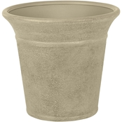 Suncast Langston Round Sand Blow Molded Resin Planter