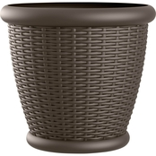 Suncast Willow Round Java Blow Molded Resin Planter