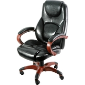 Z-Line Executive Chair with Wood Tone Base