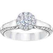 Demetrios 14K White Gold 1 CTW Diamond Engagement Ring
