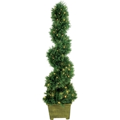 52 In. Battery Operated Pre-Lit Cedar Spiral Porch Tree