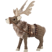 Fabric Reindeer with Fur Decor