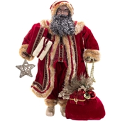 36 Inch African American Standing Santa Decor