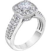 Demetrios 14K White Gold 1 1/4 CTW Diamond Engagement Ring