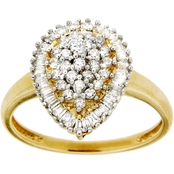 10K Yellow Gold 1/2 CTW Diamond Ring