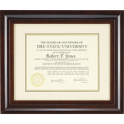 Artcare 12 x 15 Hampton Walnut Document Frame