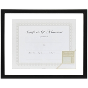 Gallery Solutions 14 x 11 Black Floating Document Frame