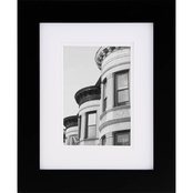 Gallery Solutions 8 x 10 Black Frame Matted to 5 x 7