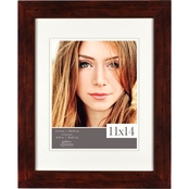 Gallery Solutions 11 x 14 Flat Walnut Frame, Matted To 8 x 10