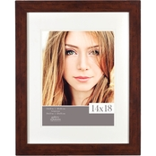 Gallery Solutions 14 x 18 Flat Walnut Frame, Matted To 11 x 14