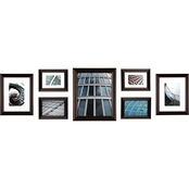 Gallery Perfect 7 Pc. Walnut Snapshot Frame Kit