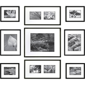 Gallery Perfect 9 Pc. Black Frame Kit
