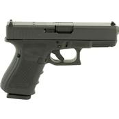 Glock 19 MOS Gen 4 9MM 4.02 in. Barrel 15 Rds 3-Mags Pistol Black