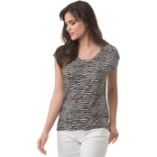 Michael Kors Zebra Print Elliptical Top