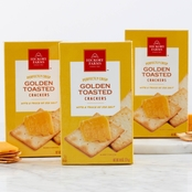 Hickory Farms Golden Toasted Crackers 3 Pk.