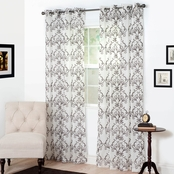 Lavish Home Valencia Embroidered Curtain Panels 54 x 95
