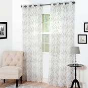 Lavish Home Valencia Embroidered Window Curtain Panels 54 x 95 in. 2 pk.