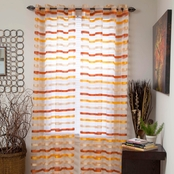 Lavish Home Sonya Grommet Window Curtain Panel 54 x 95 in.