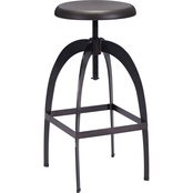 Zuo Modern Aristotle Barstool, Antique Black