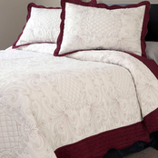 Lavish Home Juliet Embroidered Quilt Set