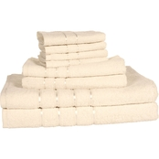 Lavish Home Egyptian Cotton Plush Towel 8 pc. Set