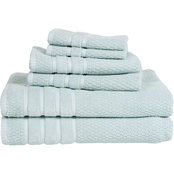 Lavish Home Cotton Rice Weave Towel 6 pc. Set