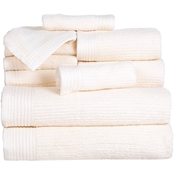 Lavish Home Ribbed 100% Cotton 10 pc. Towel Set