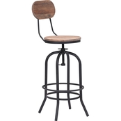 Zuo Modern Twin Peaks Bar Chair