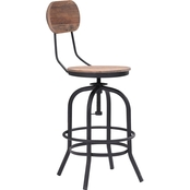 Zuo Modern Twin Peaks Counter Chair