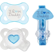 MAM Baby Infant Boys Love and Affection Pacifier 2 Pk. with Clip