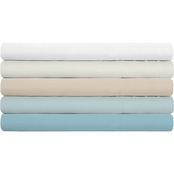 Natural Union 180 Thread Count Tencel/Cotton/Linen Blend Sheet Set, Metal Gray
