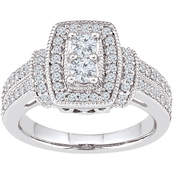 2 in Love 14K White Gold 1 CTW Diamond Bridal Ring