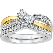 2 in Love 14K Two Tone Gold 1/2 CTW Diamond Bridal Ring