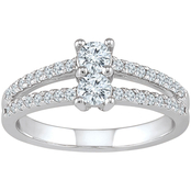 2 in Love 14K White Gold 5/8 CTW Diamond Bridal Ring