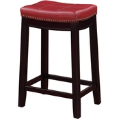 Linon Claridge Red Counter Stool