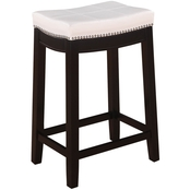 Linon Claridge Patches White Counter Stool