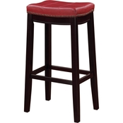 Linon Claridge Red Bar Stool
