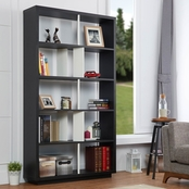 Furniture of America Bookshelf with Shelf Dividers