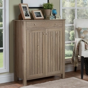 Furniture of America Hall Cabinet, Light oak