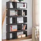 Furniture of America Bookshelf with 10 Cubbies