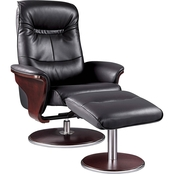 Artiva Milano Swivel Recliner with Ottoman