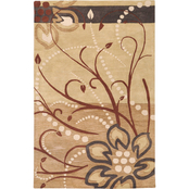Surya Athena Rug, Brown/Gold