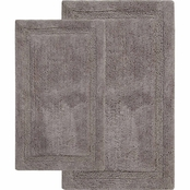 Saffron Fabs Regency 24 x 17 in. and 34 x 21 in. Cotton Bath Rug 2 pc. Set