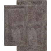Saffron Fabs Regency 34 x 21 in. and 36 x 24 in. Cotton Bath Rug 2 pc. Set